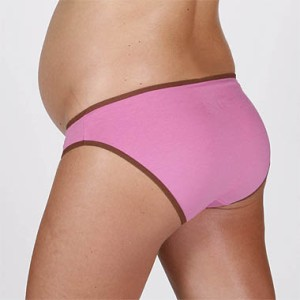 Fertile Mind Perfect Fit Maternity Undies Pink with Choc trim