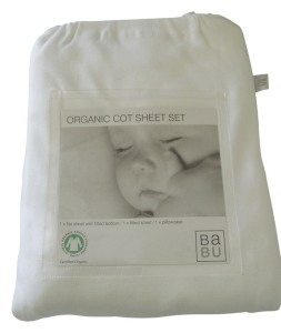 Cot Sheet Set White